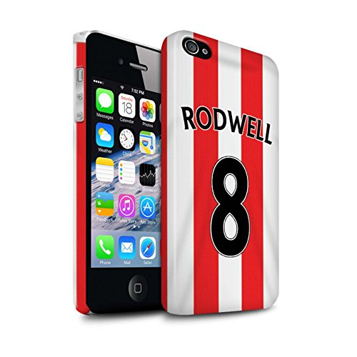 Offiziell Sunderland AFC Hülle / Glanz Snap-On Case für Apple iPhone 4/4S / Pack 24pcs Muster / SAFC Trikot Home 15/16 Kollektion Rodwell