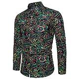 OUICE Homme Top Hommes Casual 3D Imprimé Coton De Coton Confortable Mince Manches Longues 2019 New Hawaiian Style Shirt