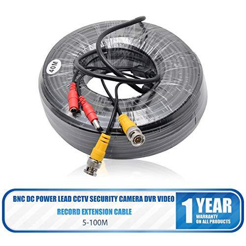 MASO BNC Kabel Videokabel CCTV DVR 15M DC Power für Überwachungskamera Videoüberwachung Überwachungssystem + BNC Adapter -