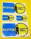 Klassisch Auto-ralley/Rennen BILSTEIN aufkleber set 2 große 2 kleine GLANZ LAMINIERT