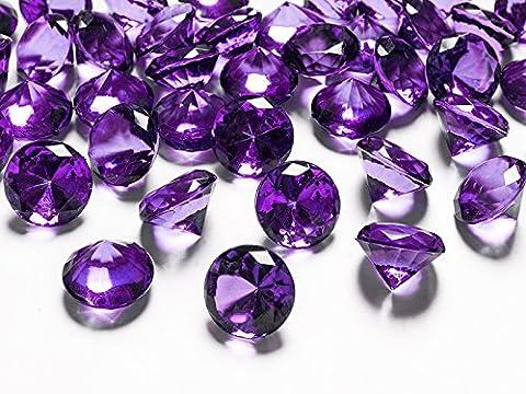 Dekosteine Diamanten lila 10 Stück 20mm Durchmesser Deko-Edelsteine Tischdeko Hochzeit Palandi®