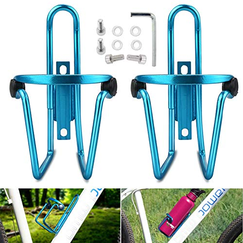 Fahrrad Flaschenhalter, WisFox 2er Pack Aktualisiert Fahrrad Flaschenhalter Flaschenhalter für Road und Mountain Bikes - Blau & Silbe