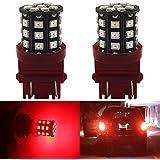 2-pack 3156315730574157extrêmement lumineux Rouge Non-polarity lumière LED, 9V-30V DC Amazenar 283533SMD Voiture de remplacement pour queue inversée Tail ampoule de frein de stationnement lumière Sparisoma lamps