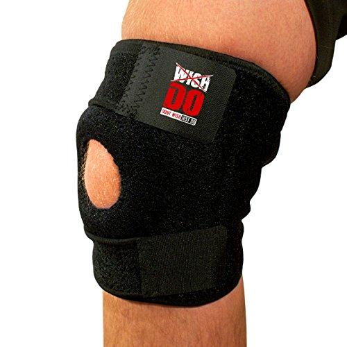 Ginocchio, taglia unica, unisex, ajustable eccezionale sostegno per LCA, LCM, instabilità, ferite, debole, artrite, ginocchio slogature/ceppi, menisco Tears. Traspirante neoprene di alta qualità per l
