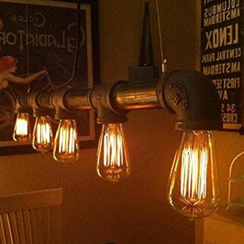 Running Fish 3 Pack E27 60W ST64 Vintage Edison Glühlampe Filament Fadenlampe Edison Lampe Vintage Stil Glühbirne Squirrel Cage Retro Lampe Antike Beleuchtung 220V [Energieklasse A] - 6