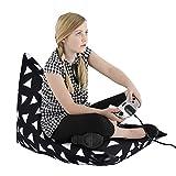 Pro groß Stofftier Aufbewahrungstasche Rhombus Sitzsack Sofa Hocker Bett verlängern & Vergrößern mit Griff Liegen kann für Kinder Plüsch Spielzeug Decken Kleidung