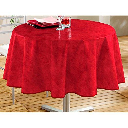 DecorLine Nappe Béton Ciré Rouge 160 cm