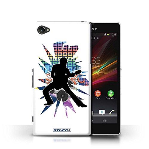 Kobalt® Imprimé Etui / Coque pour Sony Xperia Z1 Compact / Solo Blanc conception / Série Rock Star Pose étendre Blanc