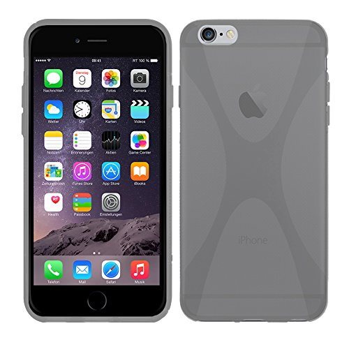 Apple iPhone 6 Plus (5,5 Zoll) - TPU Schutzhülle X-Style X Design Case Schutz Cover Etui Hülle in Lila - RT-Trading Transparent