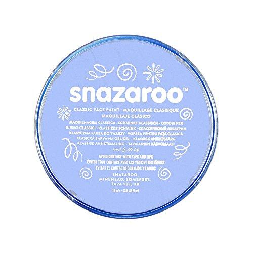 Snazaroo 1118366 Kinderschminke, hautfreundliche hypoallergene Gesichtschminke auf Wasserbasis, wasservermalbar, parabenfrei, blassblau, 18 ml Topf (Anlass Halloween Avenue)