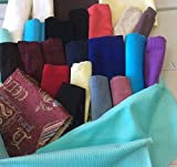 1 Kg of REMNANTS of Fabric - patchwork etc - Mainly Velvet,