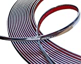 Aerzetix: 12 mm Width and 4.5 m Long Self Adhesive Decorative Band, Nickel Silver Chrome Color - Aerzetix - amazon.co.uk