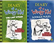 Diary of a Wimpy Kid : The Last Straw + Diary of a Wimpy Kid: Rodrick Rules(Set of 2 Books)