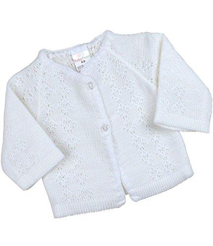 BabyPrem Babykleidung StrickJäckchen Pullover Weich Gestrickt 56-62cm 0-3 MONATE WEISS