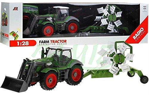 Traktor mit Anhänger QY8301I im Maßstab 1:28 - Ferngesteuertes Traktor inkl. Fernsteuerung - RC Farm Car - Farm Traktor mit abnehmbarem Anhänger*
