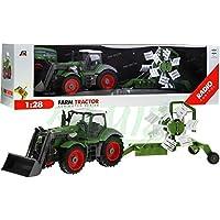 Tractor con Remolque QY8301I en escala de una y veintiocho - Control remoto tractor e incluye mando a distancia -. RC Granja de coches - tractor agrícola con remolque extraíble
