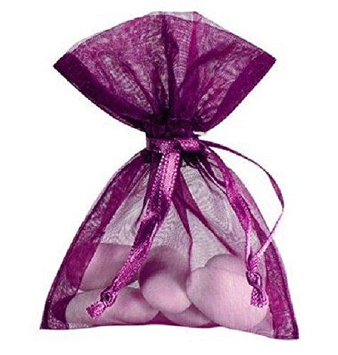 Chal - Sachet organdi violet x10