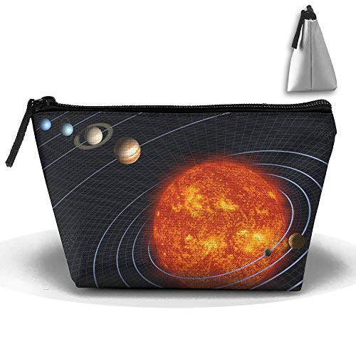 Portable Makeup Bag Organizer Travel Magic 3D Printing Pluto is Still Legally A Planet Cosmetic Bags Brush Storage Pouch for Women Purse cute makeup bags White Suede Oxford