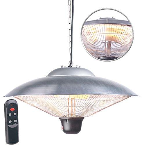 Semptec Deckenheizstrahler: IR-Decken-Heizstrahler mit LED-Licht, Fernbedienung, bis 2.000 W, IP34 (Infrarotheizstrahler)
