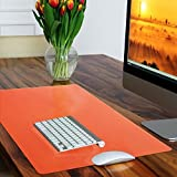 casa pura Non-Slip Orange Desk Mat | Desk Pad with Smooth Surface | 50x65cm (1.6'x2') | PVC & Phthalate Free | In 10 Colours