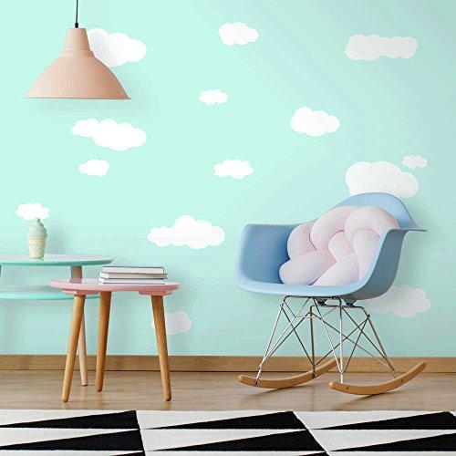 Adesivi murali riutilizzabili jomoval roommates, nuvole bianche per la camera dei bambini