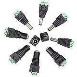 Neuftech® 5x DC Stecker + DC Buchse 2,1 x 5,5 mm Adapter Stecker Schraubstecker Schraubklemmen für LED Strips