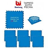 TAPPETO IN GOMMA COMPONIBILE TAPPETINO SOTTO PISCINA cm.50X50 (pz.24) BESTWAY mod.58220