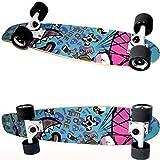 Große Fisch-Platten-Erwachsene Jungen-und Mädchen-Straßen-Berufsanfänger-Ahorn-hölzerne Fisch-Platten-Reise-Vierrad-Skateboard (Farbe : Graffiti)