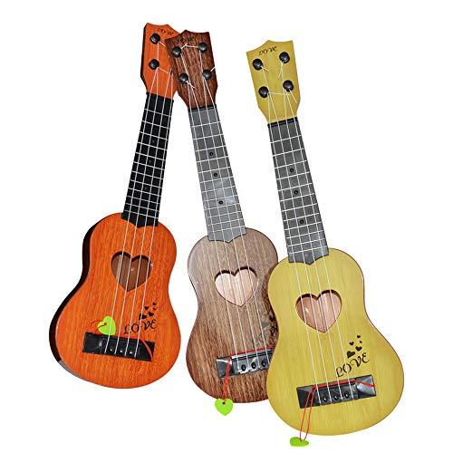 Alecony Mini-Ukulelen-Spielzeug für Kinder, Xylophon, Kinder Gitarre Anfänger Klassische Ukulele Gitarre pädagogisches Musikinstrument Spielzeug (Gelb)