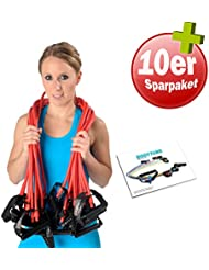 10er Paket Dittmann Body Tube Expander Gymnastikband Trainingsband Fitness