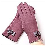 HOMEE Guanti caldi touch screen donna sportiva all'aria aperta che cicla i guanti invernali caldi,M- Bean Paste,F