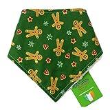 Dimples Hundehalstuch - Weihnachten Lebkuchen Männchen - Halstuch für kleine mittlere und Grosse Hunde Welpen und Katzen - Hunde Handgemachtes Hunde Accessoire 35cm