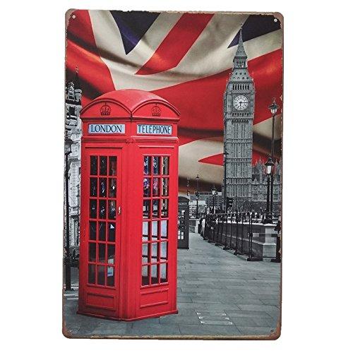 EY!! Mira estas Chapas Decorativas Pared Londres Cabina