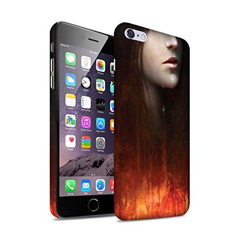 Offiziell Chris Cold Hülle / Matte Snap-On Case für Apple iPhone 6S+/Plus / Gift Haupt Muster / Gefallene Erde Kollektion Tränen der Eva