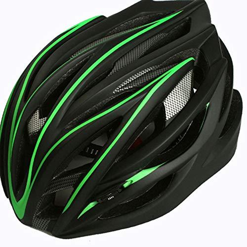 LPC Fahrrad Mountainbike Integrierter Reithelm Extremsport Rollschuh Helm Für Männer Und Frauen Mode (Color : Green)