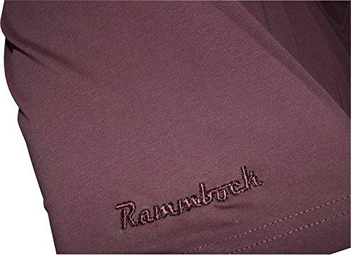 Übergrößen!! Tolles Basic T-Shirt RAMMBOCK Braun mit Stickerei V-Neck Braun