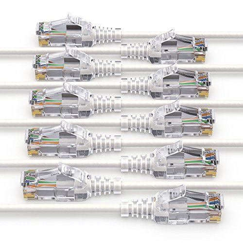 PureLink MC1502-015 CAT6 Netzwerkkabel UTP (10/100/1000 Mbit/s), extra dünn mit 2X RJ45 Stecker, Patchkabel für Switch, Modem, Router, Patchpanels, Patchfelder, 10er Set, 1,50m, weiß (Ed-drucker)