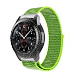 10principales Samsung Gear S3Bracelet de montre, Nylon Sangle de bracelet de rechange Bracelet pour Samsung Gear S3Frontier/classique Smart Watch M jaune