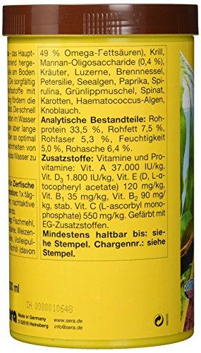 sera 00519 vipachips 1000 ml – Hauptfutter aus sinkenden Chips für alle Bodenbewohner im Aquarium - 3