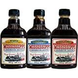Mississippi Barbecue Grill Sauce 'Original, Sweet'n Mild & Sweet'n Spicy', 3x440ml (Dreierpack)