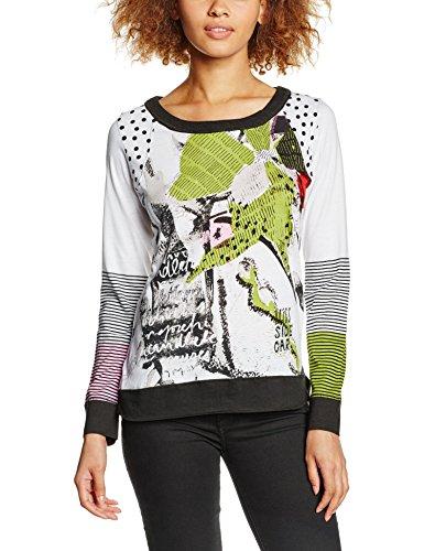 SideCar MENCIA-V16 T-Shirt, Blanc/Noir, XS Femme