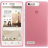 PhoneNatic Case für Huawei Ascend G6 Hülle Silikon rosa, transparent + 2 Schutzfolien