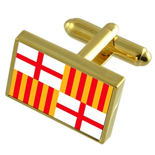 Stadt Barcelona Spanien Gold Manschettenknöpfe