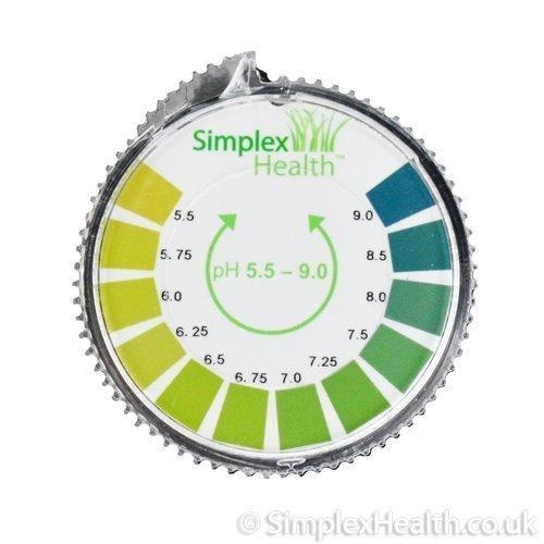 SimplexHealth pH-Indikator Lackmus-Test Papier-Streifen Roll, 5.5-9.0 Für Wasser Urin und Speichel - 5 Meter