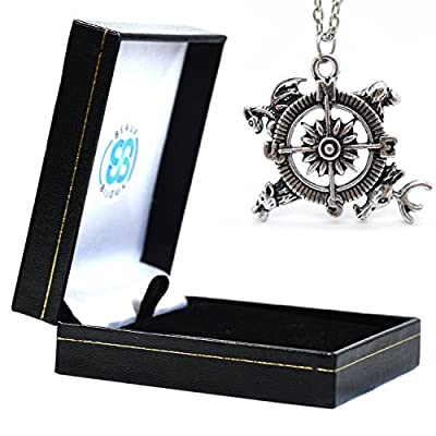 Game of Thrones Song of Ice And Fire Compass Pendant Necklace In Gift Box - Game Of Thrones Compass Necklace