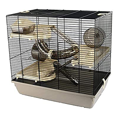 Pet Ting Evans Luxury Hamster Cage and Accessories Wheels Ladders Tubes Syrian Gerbil by Pet Ting