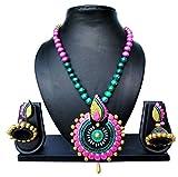 #4: Pentacrafts Terracotta Art Designed Women Girl Necklace Set, Color Multi