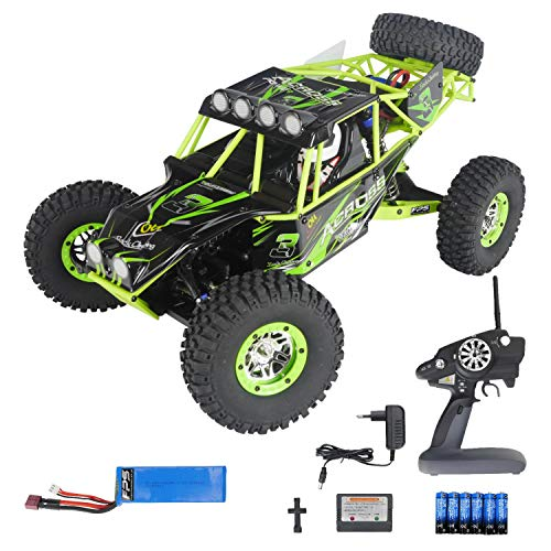 FPS RTR Bundle: Rayline PRO V10, RC XXL Rock Crawler Monstertruck Truggy, 2 Gang - max. Kraft o. bis 30 km/h, 4WD, 1:10, 47cm, Metalldifferential, 2.4G Fernbedienung LCD, inkl. LiPo Akku, 6X AA - Rock 10 Rc Rtr Crawler 1