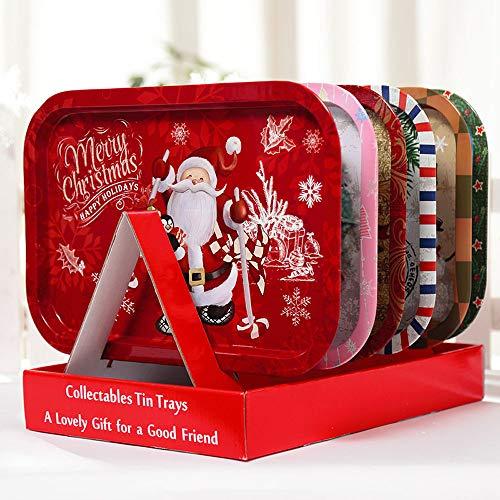 Vijtian decorazioni natalizie carine frutta piatto piatto creativo decorazione di natale piatto ferro regali di natale frutta caramelle pu\xf2 essere montato