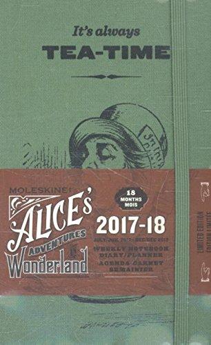 Moleskine 2017-2018 Agenda Settimanale Alice con Spazio per Note, 18 Mesi, Tascabile, Verde Salice